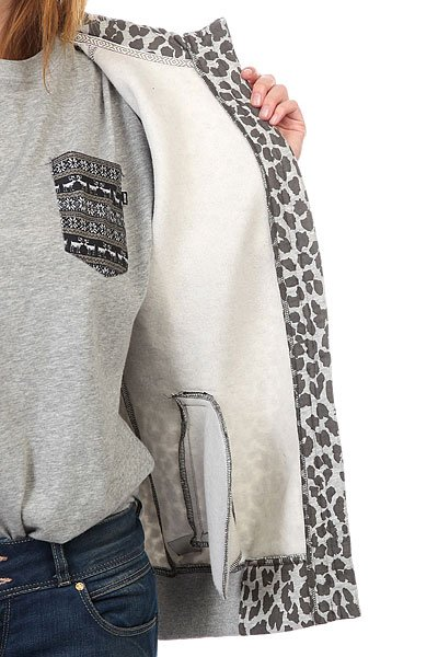 Толстовка женская CLWR Punk Hood Grey Melange Leo