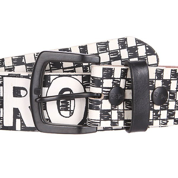 Ремень Zero Checker Belt Black/White
