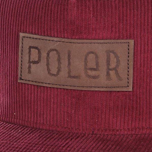 Бейсболка Poler Cords Burgandy