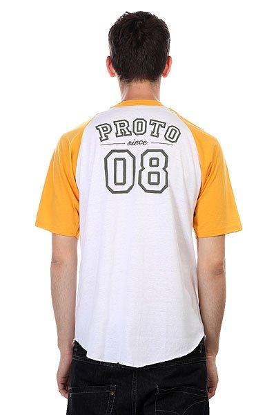 Футболка Proto Scooters Baller Short Sleeve Yellow On White