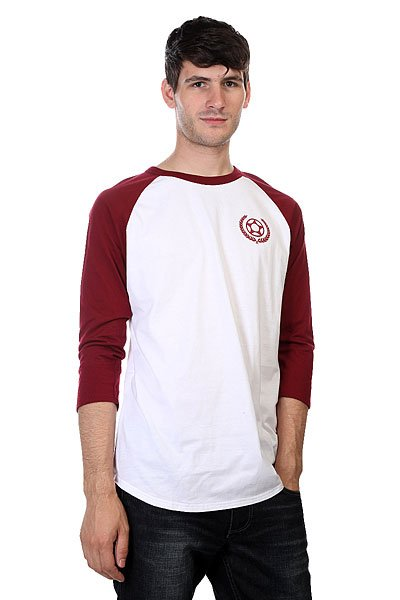 Лонгслив Proto Scooters Baller 3/4 Sleeve Burgandy On White