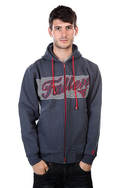 Толстовка Fallen Lockout Hood Mid Blue/Blood Red
