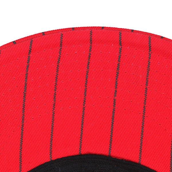 Бейсболка Flip Pinstriped Stretch Hat Red