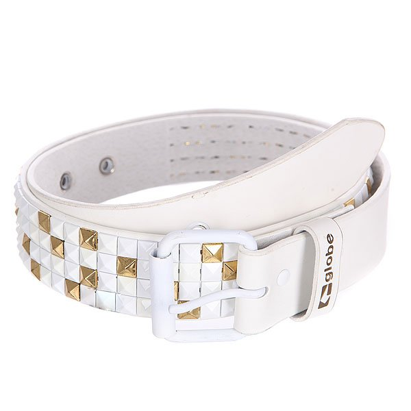 Ремень Globe Stud Belt White/Gold