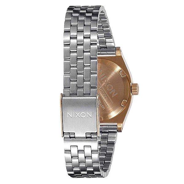 Часы женские Nixon Small Time Teller Gold/Silver