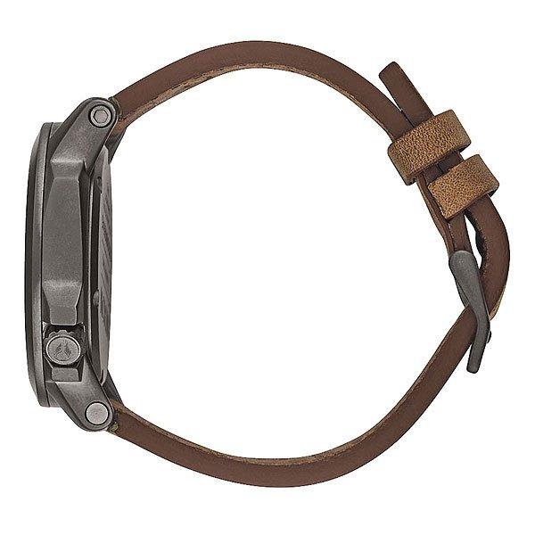 Часы Nixon Ranger 45 Leather Gunmetal/Dark Brown