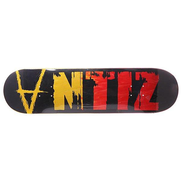 Дека для скейтборда Antiz Dried Out Black Black/Red/Yellow 31.5 x 8.125 (20.6 см)