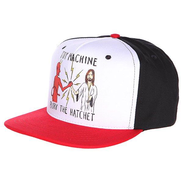 Бейсболка Toy Machine Bury The Hatchet Ii Cap Black/Red