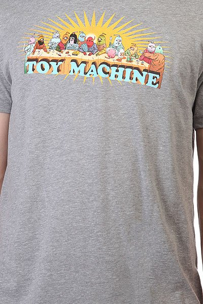 Футболка Toy Machine Last Supper Heather Grey