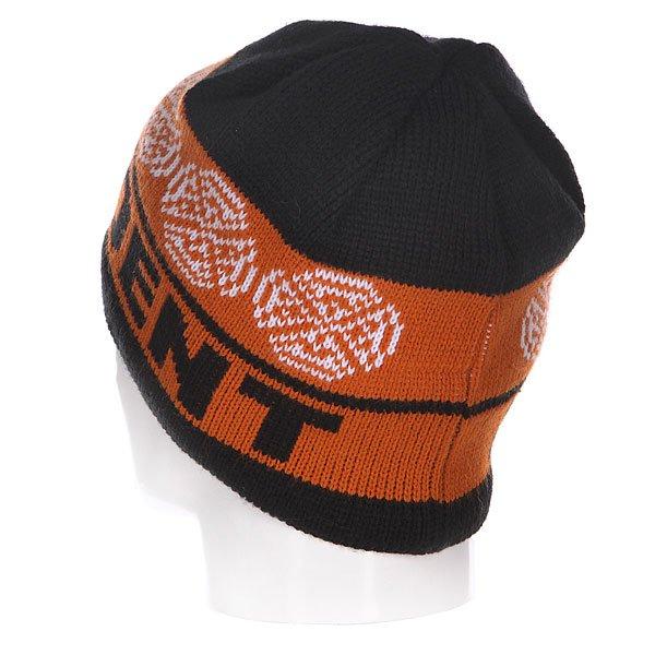 Шапка Independent Cb Stripe Skull Black/Orange/Red