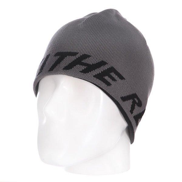 Шапка двусторонняя Independent Ftr Reversible Skull Dk. Grey Haze/Black