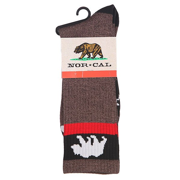Носки высокие Nor Cal Bear Foot Sock Brown Heather
