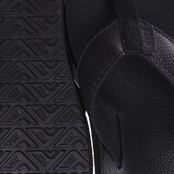 Вьетнамки Reef Leather Smoothy Black