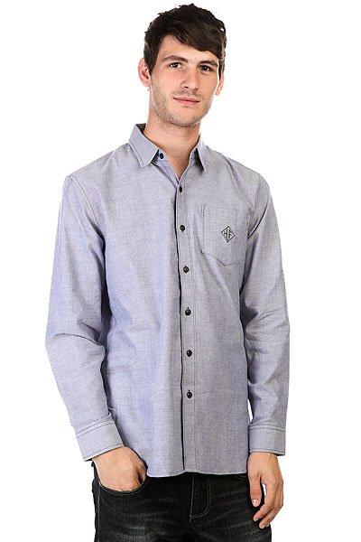 Рубашка Huf Classic Chambray L/S Woven Blue