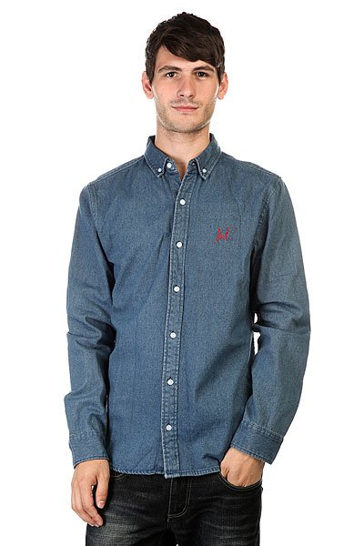 Рубашка Huf Script Overshirt Denim