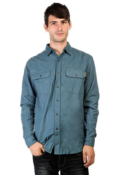 Рубашка Huf Solid Flannel Work Shirt Blue