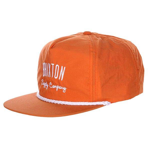 Бейсболка Brixton Driven Snap Back Orange