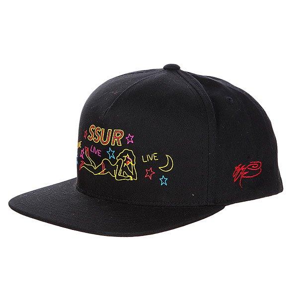 Бейсболка SSUR Live Snapback Black