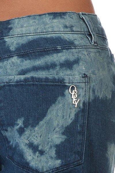 Джинсы прямые женские Obey Lean & Mean Monogram Tie Dye