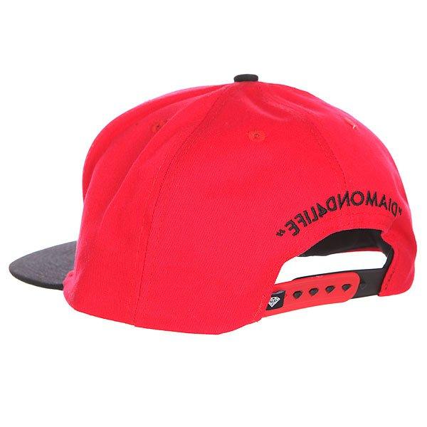 Бейсболка с прямым козырьком Diamond 4 Life Red/Black