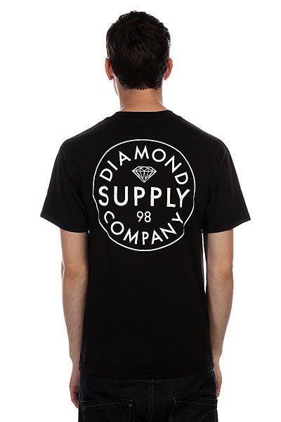 Футболка Diamond Stamped Black