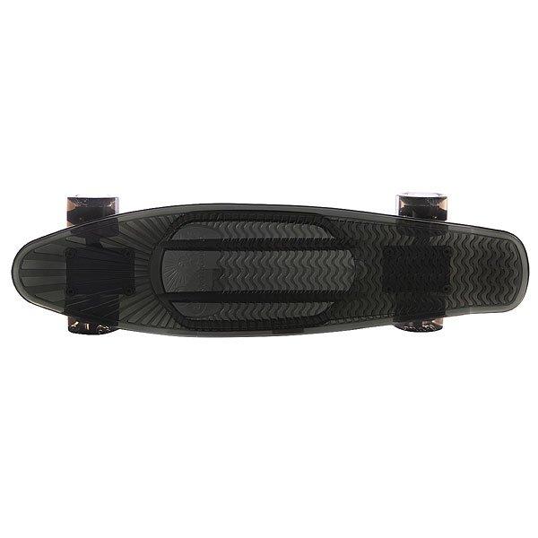 Скейт мини круизер Sunset Smoke Complete Tinted Grey Deck Smoke Urethane Wheels Black 6 x 22 (56 см)