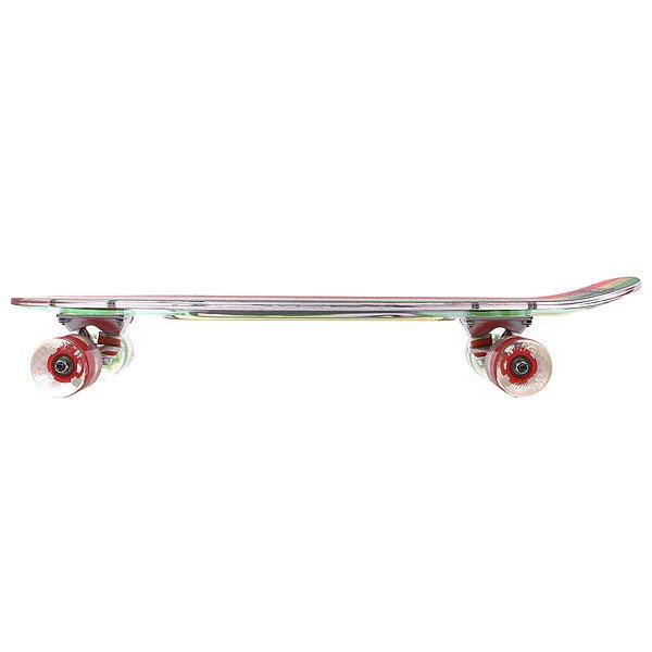 Скейт мини круизер Sunset Rasta Grip Complete Rasta Stripe Deck R/Y/G Red/Green Wheels 7.5 x 27 (69 см)