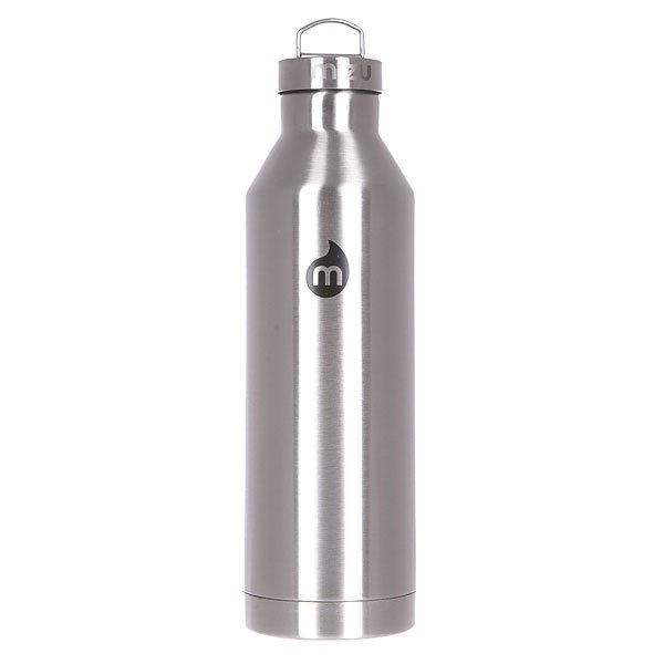 Бутылка для воды Mizu V8 800ml Stainless W Black Print Steel Cap