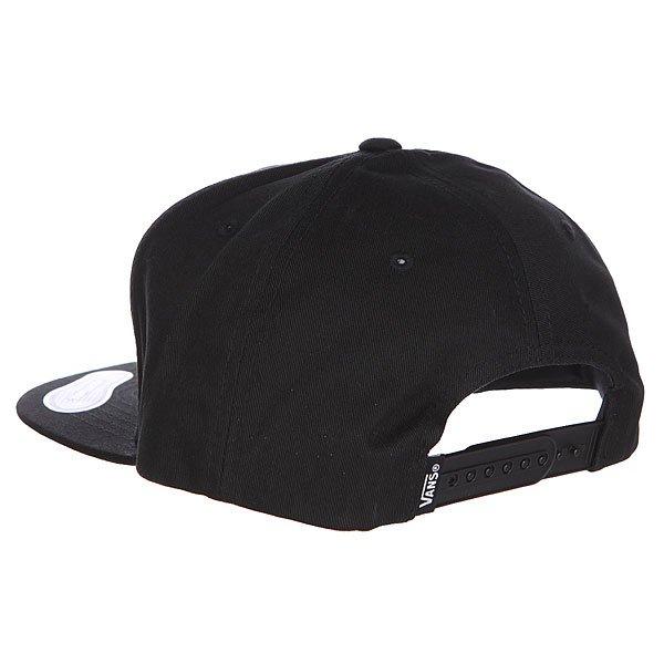 Бейсболка с прямым козырьком Vans Full Patch Snapbac True Black