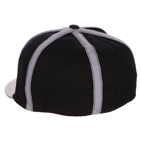 Бейсболка с прямым козырьком Independent Carl Textured Black/Grey