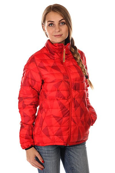 Пуховик женский Colour Wear Feather Jacket Red Ceramic
