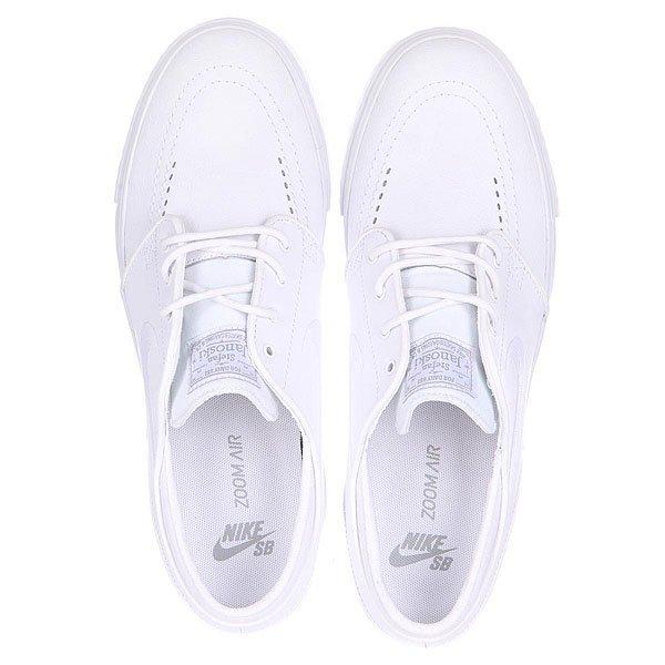 Кеды низкие Nike Zoom Stefan Janoski L White/White Wolf Grey
