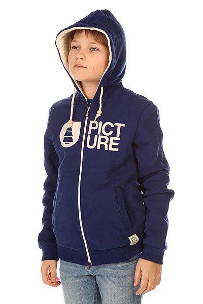 Толстовка утепленная детская Picture Organic Basement Plush Dark Blue