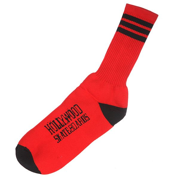 Носки Hollywood Striped Socks Red/Black