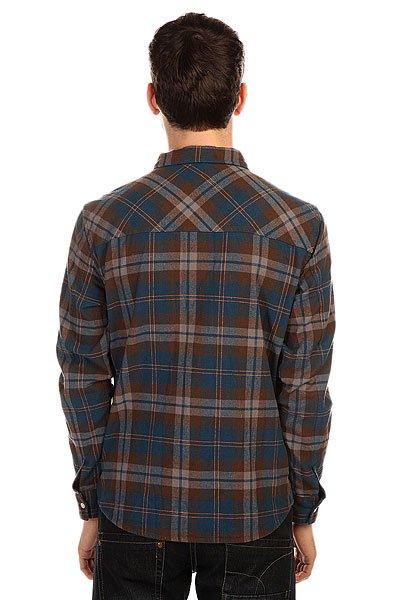 Рубашка в клетку Slave Flannel Blue