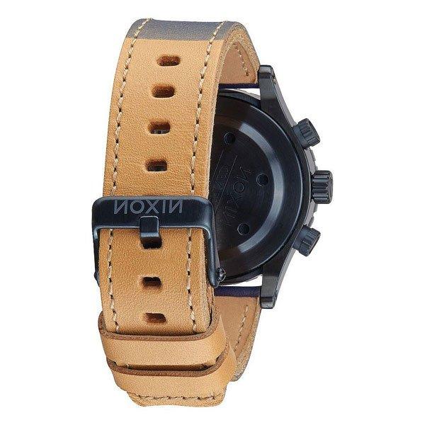 Часы женские Nixon Chrono Leather All Indigo/Natural