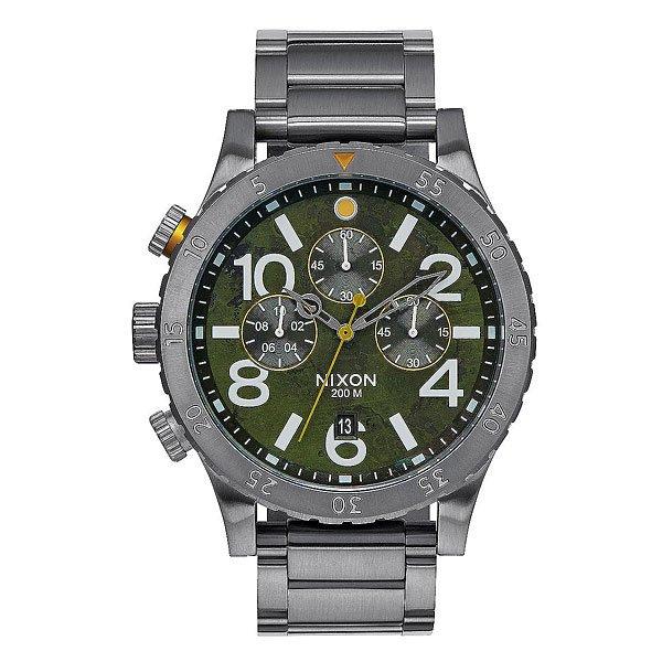 Часы Nixon Chrono Gunmetal/Green Oxyde