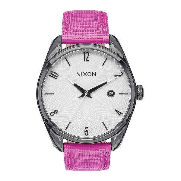 Часы женские Nixon Bullet Leather Black/Hot Pink