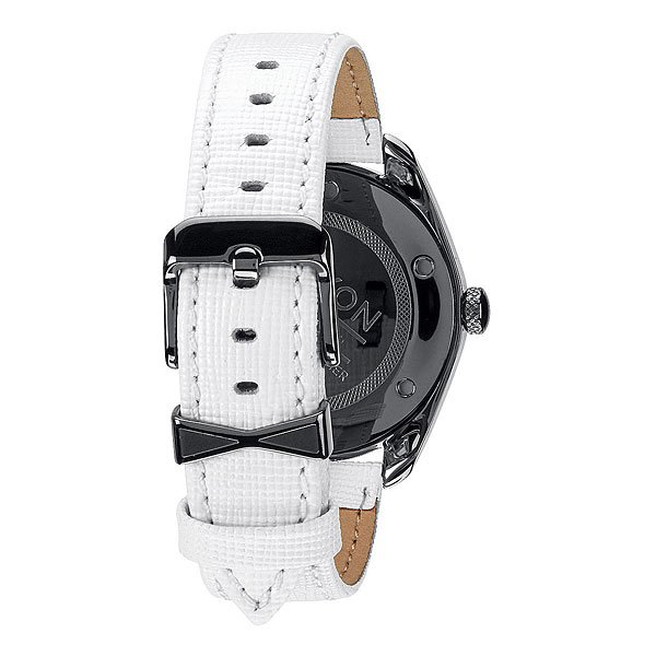 Часы женские Nixon Bullet Leather Gunmetal/White