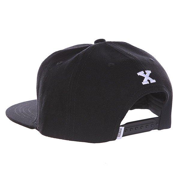 Бейсболка с прямым козырьком Truespin Abc Black X