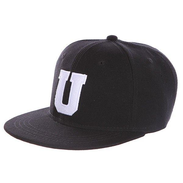 Бейсболка с прямым козырьком Truespin Abc Black U