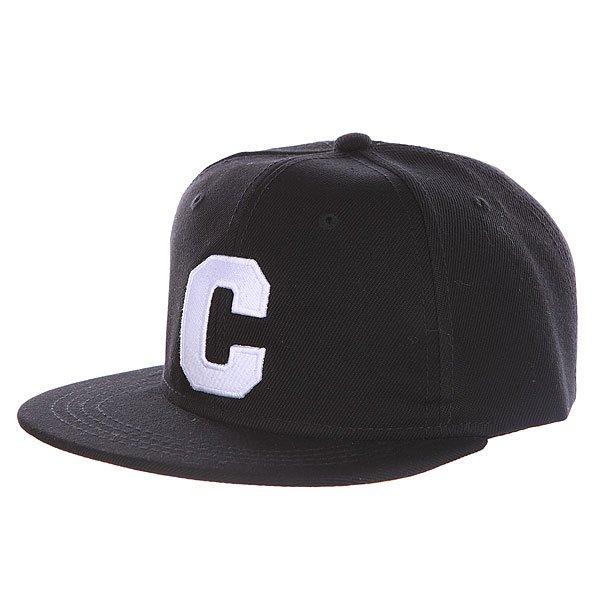 Бейсболка с прямым козырьком Truespin Abc Black C