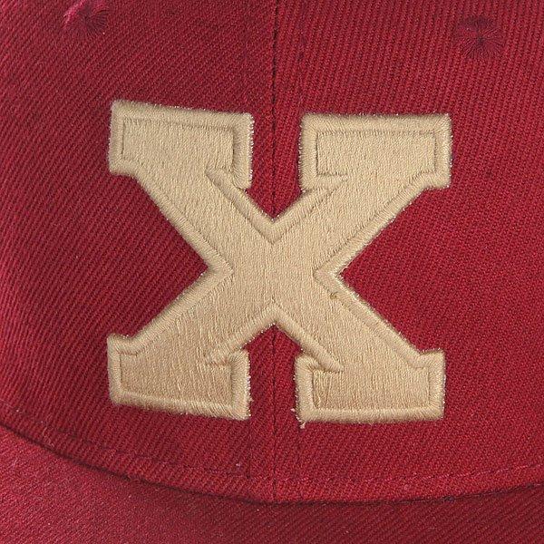 Бейсболка с прямым козырьком Truespin Abc Bordo X