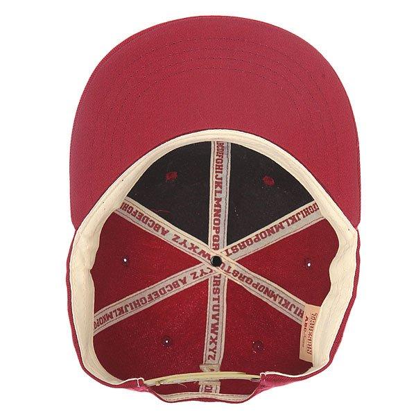 Бейсболка с прямым козырьком Truespin Abc Bordo V