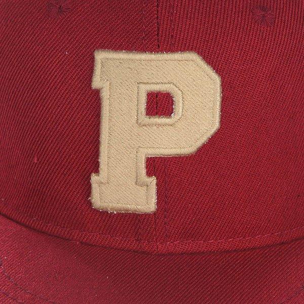 Бейсболка с прямым козырьком Truespin Abc Bordo P