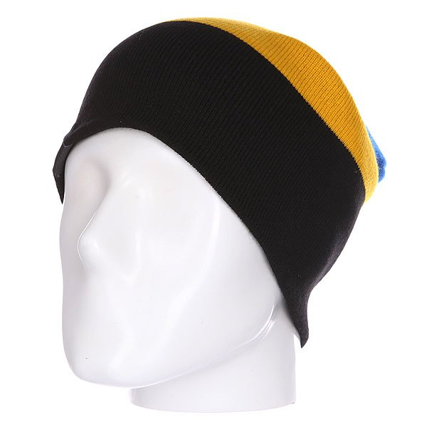 Шапка носок Shweyka Trio Beanie Blue/Yellow/Dark Grey