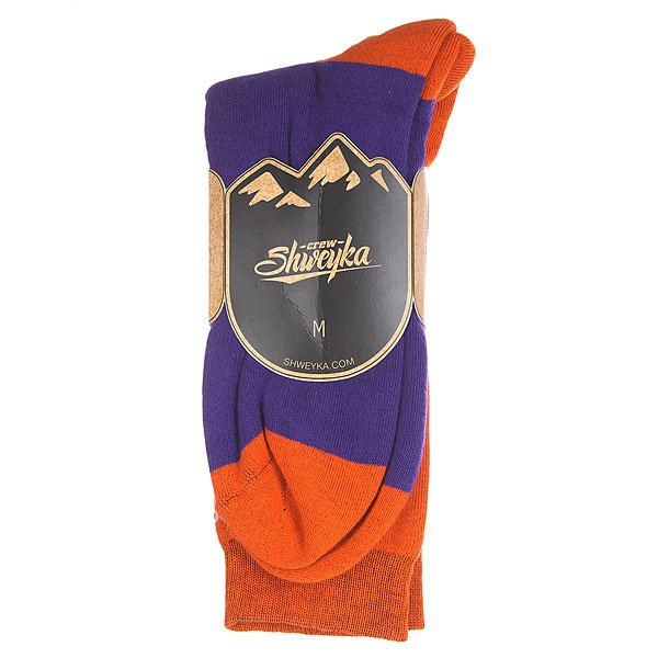 Носки Shweyka Logo Snowboard Socks Violet/Orange