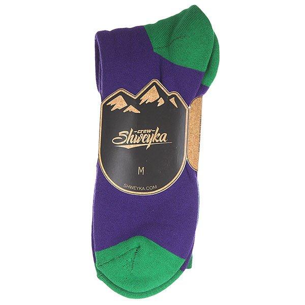 Носки Shweyka Logo Snowboard Socks Violet/Green