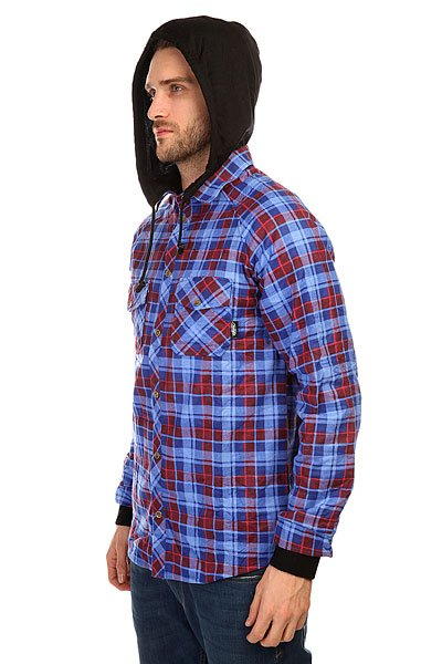 Рубашка в клетку Shweyka Fleece Shirt Blue/Red