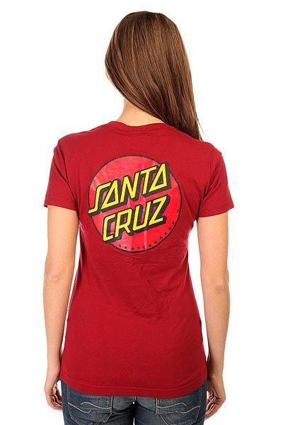 Футболка женская Santa Cruz Classic Dot Scarlet